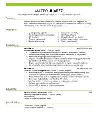 Preschool Teacher Resume Template Sumptuous Design Ideas Teacher Resume Template 3 Best Example Cv