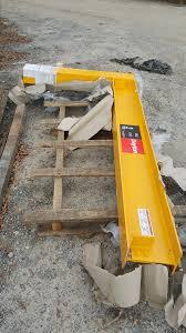 dayton 6cgf2 wall mounted full cantilever manual jib crane 4400