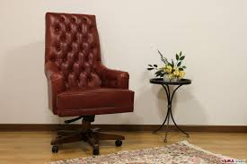 Wood Swivel Desk Chair by Presidential And Directional Office Armchair In Genuine Leather