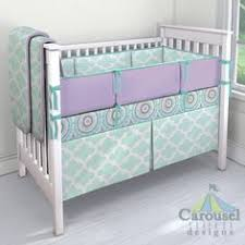 Purple And Aqua Crib Bedding Crib Bedding In Solid Teal Aqua Haute Circles Solid Lilac Lilac