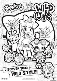 coloring pages to print shopkins shopkins season 9 wild style 8 coloring pages printable