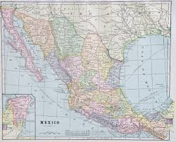 Map Of Mexico by Map Of Mexico 1887