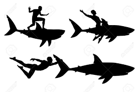 shark clipart silhouette collection