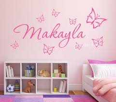 butterfly personalised wall art sticker station