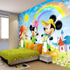 awesome unisex mickey and minnie mouse themed bedroom decor with