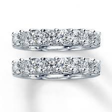 2 wedding bands diamond wedding bands 2 ct tw cut 14k white gold