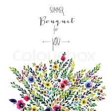 wedding flowers drawing vector floral card colorful floral banner with leaves and flowers
