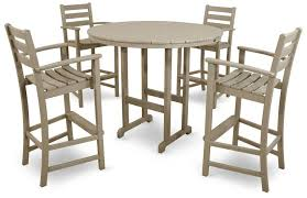 Outdoor Furniture Bar by Composite Deck Furniture Trex Tables And Chairs Trex Bar Stools