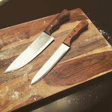 handcrafted kitchen knives a pair of handcrafted kitchen knives i finished up today top one is