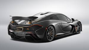 orange mclaren rear this stealth grey and orange bespoke mclaren p1 is a symphony of evil