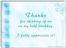 birthday thank you notes send a half birthday ecard half birthday thank you note