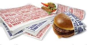 cheeseburger wrapping paper burger food wrap sheets greaseproof wax paper sandwich bbq picnic