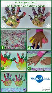 hand print make your own christmas cards