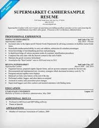 Supermarket Resume Examples by Grocery Store Cashier Resume