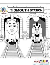 thomas tank engine station thomas train coloring pages