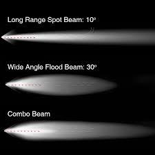 curved marine led light bar 20 inch 100w led light bar spot flood combo 8 560 lumens cree led