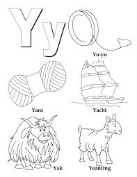 Letter Y Coloring Pages letter y coloring pages getcoloringpages