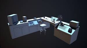 Control Room Desk 3d Model Control Room Cgtrader