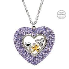 heart necklace swarovski images Trinity heart necklace encrusted with swarovski crystals jpg
