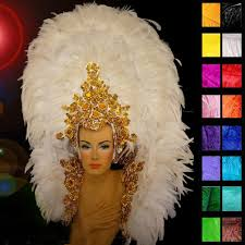 carnival costumes for sale white swan showgirl headdress and backpack mardi gras carnival