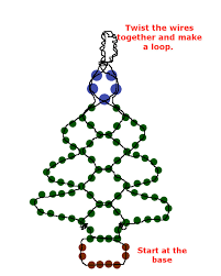 Easy Beaded Christmas Ornaments - easy beaded christmas tree earrings