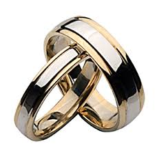 His And Her Wedding Rings by 9ct Two Color Gold His And Her Matching Wedding Ring Sets