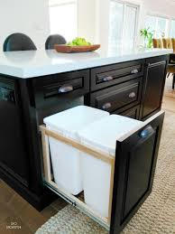 Kitchen Island Trash by Kitchen Furniture Rolling Kitchen Island With Trash Storage Diy