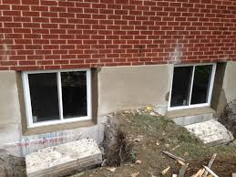 Replacing A Basement Window by Case Study Concrete Basement Window Concrete Wall Cut Out And