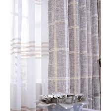 gray plaid shabby chic burlap organic buy curtains on sale
