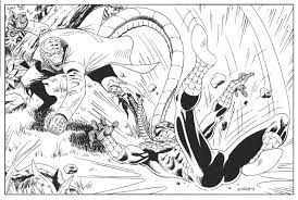 spiderman vs lizard in ygor d u0027s original artwork comic art