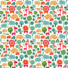themed wrapping paper gift wrap continuous wrap calico zoo wrapping paper roll caspari