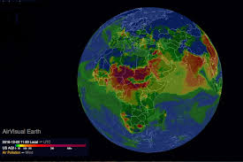 Earth Wind Map Map Of The Week Interactive Air Pollution Map Map Of Air