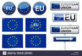 European Flags Images Europe Union Flag Traffic Board Banner And Symbols Collection