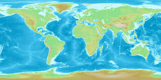 A World Map by Maps World Map Elevation