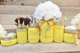 Yellow Bathroom Accessories by Yellow Mason Jar Bathroom Set Yellow Bathroom Decor Yellow