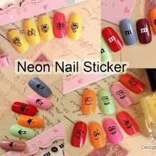 online shop free shipping 24pcs 3d black emoji nail art sticker