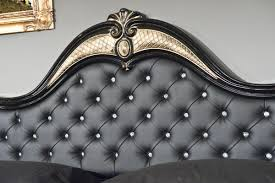 judy italian classic black bedroom set leather headboard