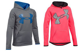 today only kids u0027 under armour big logo hoodies only 24 99