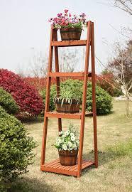 amazon com convenience concepts 4 tier plant stand garden