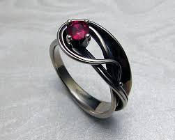 art nouveau style engagement ring with ruby u2014 metamorphosis jewelry