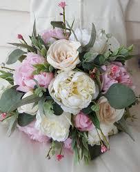 pink white cream wedding bouquet bride bridesmaid bouquet