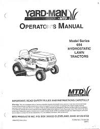 mtd mtd lawn tractor parts model 13au694h401 sears partsdirect