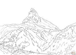 matterhorn the emblem of swiss alps coloring page free printable