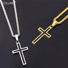 stainless gold necklace images Collare cross necklaces pendants stainless steel pendant gold jpg