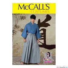 sewing pattern ninja costume mccall s pattern m7525 martial arts samurai ninja costume