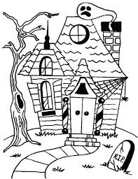 printable spooky house haunted house coloring pictures kids coloring house coloring pages