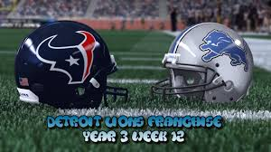 lions thanksgiving day game madden 15 detroit lions franchise year 3 week 12 vs houston