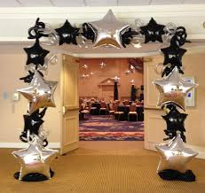 black and gold star arch balloon deco and arches pinterest