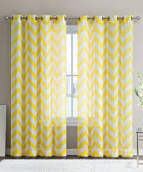 Light Yellow Sheer Curtains with Loving This Bright Yellow Chevron Sheer Curtain Panel Set Of Two