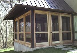 enclosing a porch before exovations sunroom project bryza home